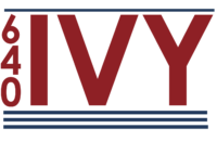 IVY BLUE AND RED LOGO